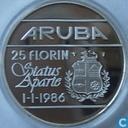 "Aruba 25 florin 1986 ""Status Aparte"""
