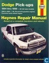 Dodge pick-ups  + Haynes repair Manual