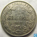 South Africa 1 shilling 1897