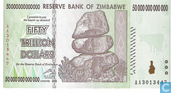 Zimbabwe 50 Trillion Dollars 2008