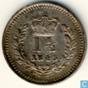 United Kingdom 1.5 pence 1843