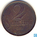 Latvia 2 santimi 1922 (with mint mark)
