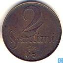 Lettland 2 Santimi 1922 (mit Münzzeichen)