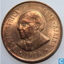 "South Africa 2 cents 1979 ""The end of Nicolaas Johannes Diederichs' presidency"""