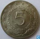 Yougoslavie 5 dinara 1974