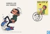 "Eerstedagenveloppe ""Courrier a lire avec tendresse"""