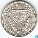 Coins - South Africa - South Africa 3 pence 1951