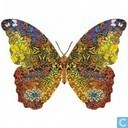Contourpuzzel: Vlinder