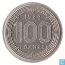 États de l'Afrique équatoriale 100 Francs 1966