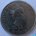 "Canada 25 cents 2002 P Elizabeth II Golden Jubilee 1952-2002 """
