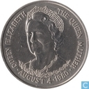 "Tristan da Cunha 25 pence 1980 ""80th Birthday of Queen Mother"""