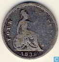 Royaume-Uni 4 pence 1838