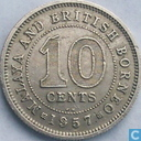 Malaya and British Borneo 10 cents 1957 (KN)