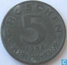 Oostenrijk 5 groschen 1955