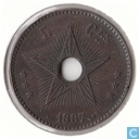 Congo Free State 5 centimes 1887