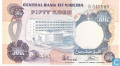 Nigeria 50 Kobo ND (1973-78) P14g
