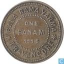 Travoncore 1 fanam 1940