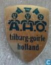 A.H.O. Tilburg-Goirle Holland (schildje) [blauw op zilver]