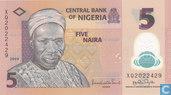 Nigeria 5 Naira 2009 (P38b2)