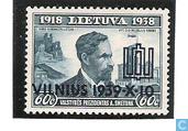 Vilna bij Litouwen, met opdruk