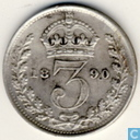 United Kingdom 3 pence 1890