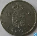 Danemark 1 krone 1978