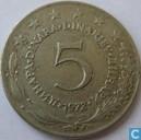Yougoslavie 5 dinara 1972