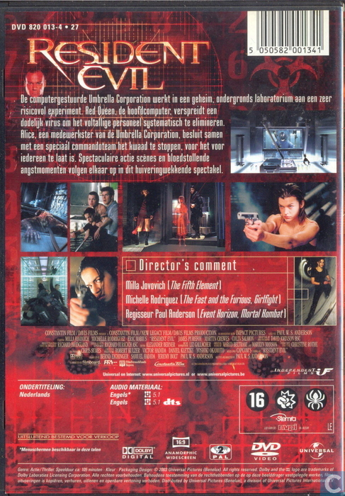 5217cbac46d48e Resident Evil - DVD - Catawiki