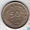 Turkey 50 lira 1986