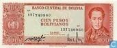 Bolivie 100 bolivianos pesos
