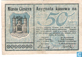 Cieszyn / Teschen 50 Halerzy-Heller 1919