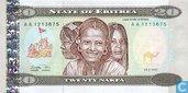 Érythrée 20 Nakfa 1997