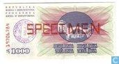 Bosnië Herzegovina 1000 Dinara SPECIMEN