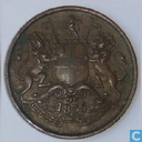 East India Company ½ anna 1835 (Bombay)