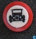 Verbodsbord: gesloten voor motorvoertuigen op meer dan twee wielen