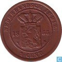 Dutch East Indies 1 cent 1855