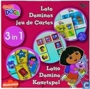 Dora 3 in 1 Lotto Domino Kaartspel
