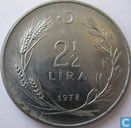 Turkey 2½ lira 1978