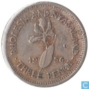 Rhodesia and Nyasaland 3 pence 1956