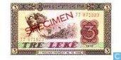 Albanie 3 lekë 1976 / SPÉCIMEN
