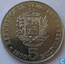 Venezuela 5 Bolivares 1990 (vs grosse Buchstaben, hs grosse Buchstaben)