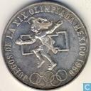 "Mexico 25 pesos 1968 (ringen uitgelijnd) ""Summer Olympics - Mexico City"""