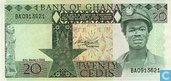 20 cedis ghanéens