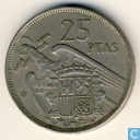 Spanje 25 pesetas 1958