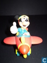 Mickey in plane