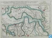 Carte De La Flandre ou sont les environs d'Axel, d'Hulst dans la Flandre Holland de Middelburg, Goes et Tolen en Zelande de Berg op Zoom et de Lille en Brabant