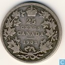 Canada 25 cents 1903