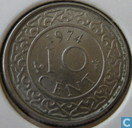 Suriname 10 cent 1974