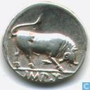 Roman Empire Denarius of Emperor 8 15 to 13 BC