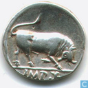 Romeinse Keizerrijk Denarius van Keizer Augustus 15-13 v. Chr